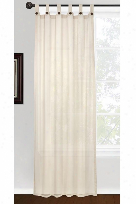 Eco Leno Inverted Curtain Panel - 40hx84w, Ivory