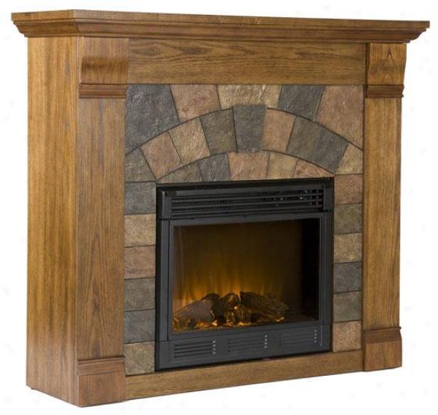 Edgewater Fireplace - Electric Frplce, Oak