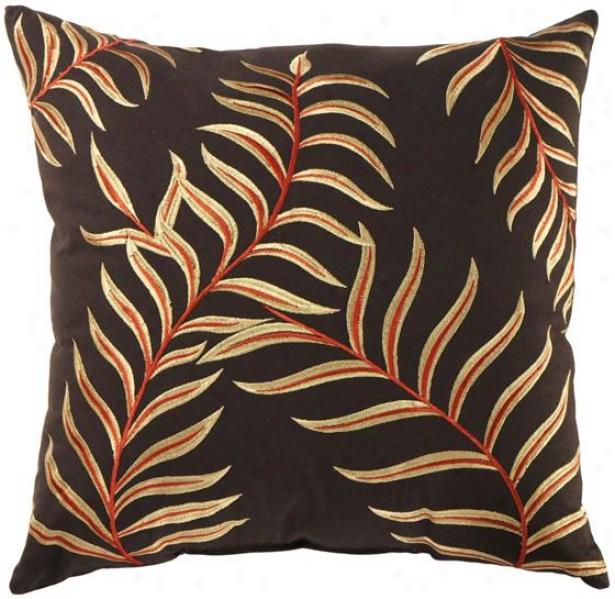 Edith Decorative Pillow - 20h20wx7d, Brown