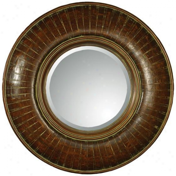 """edwin Mirror - 36""""hx36""""w, Brown"""