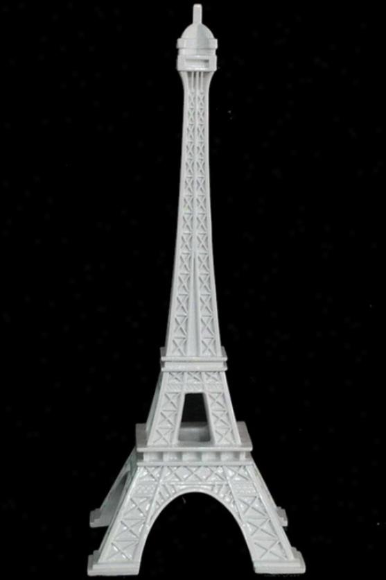 """eiffel Tower Figurine - 14.5hx6wx6""""d, White"""