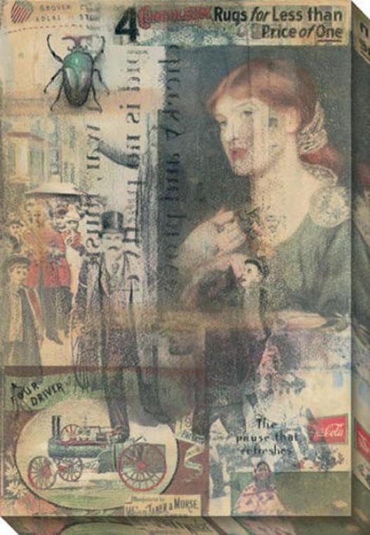 """election Day Canvas Wall Art - 34""""hx48""""w, Gray"""