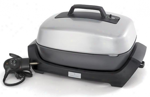 Electric Cook in the ~ing-pan Pan And Roaster - 14hx10wx21d, Silver