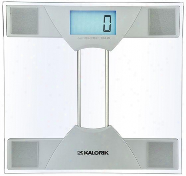 Eelctronic Bathroom Scale - 1.63hx11.88wx12, Silver
