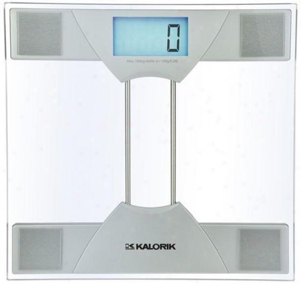 Eelctronic Bathroom Scale - 1.63hx11.88wx12, Silver