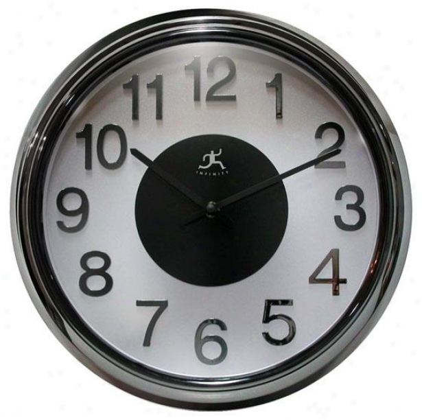 """elektric Cool Wall Clock - 15""""hx15""""w, Black Pearl"""