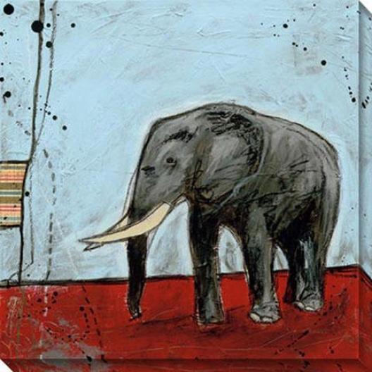 """""""epephant Canvas Wall Art I - 40""""""""hx40""""""""w, Blue"""""""