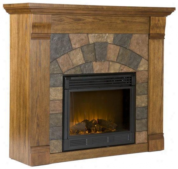 Elkmont Standard Fireplace - Electric, Salem Antq Oak