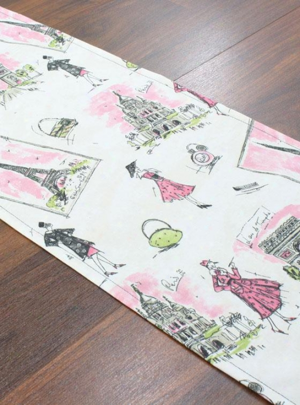 """ellis Collection Table Runner - Table Runner, 12.5 X 54""""x, Tres Chic Black & Pinkx"""