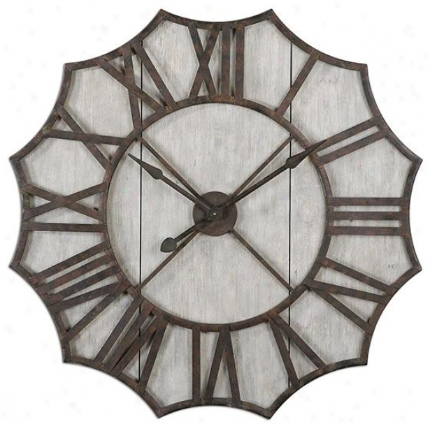 Elliston Wall Clock - 40hx39wx4d, Geay