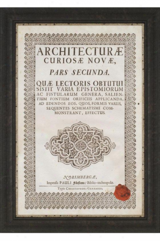 """embossed Bookplate FramedW all Creation of beauty - 42h X 30w X 1""""d, Ivory"""