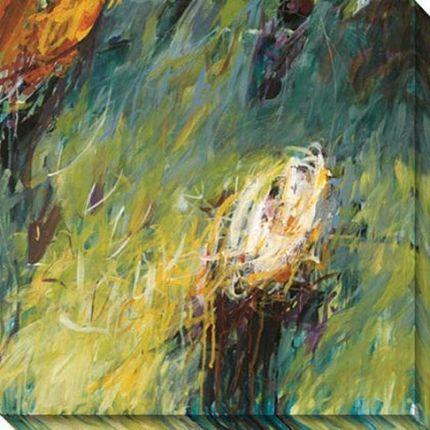 Eras Iii Canvas Wall Art - Iii, Green
