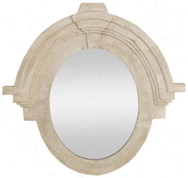 Erin Wall Mirror - 299h X 29w, Ivory
