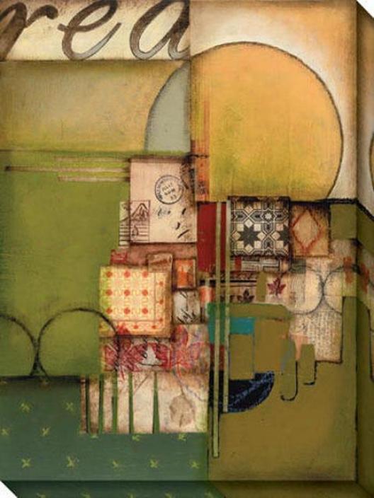 Essential Ii Canvas Wall Art - Ii, Green