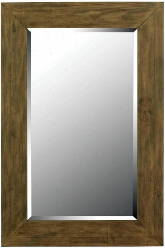 """eureka Wall Mirror - 42h X 28""""w, Wood Grain"""