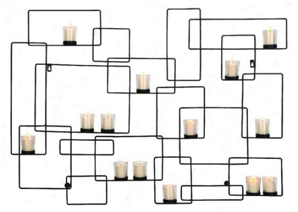 """everly Candleholder - 30""""hx42""""w, Black"""
