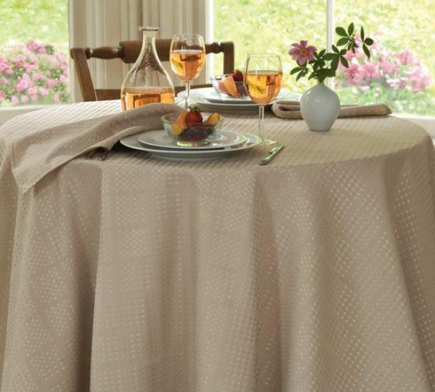 """evolution Tablecloth - 70""""round, Ivory"""