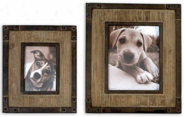 Fadia Picture Frames - Set Of 2 - Set Of Two, Woodtone