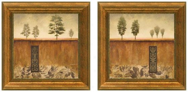 Fairhaven Framed Wall Art - Set Of 2 - Set Of Two, Tan