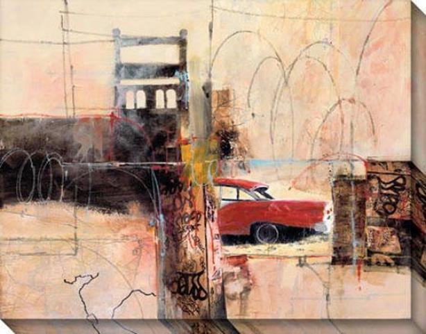 """fairlane Canvas Wall Art - 46""""hx36""""w, Black"""