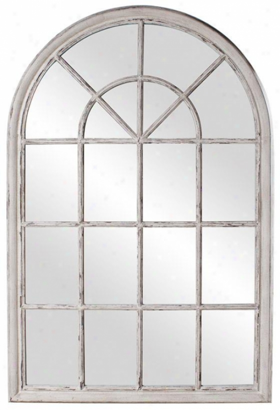 Fenwtre Wall Mirror - 39hx59w, Gray