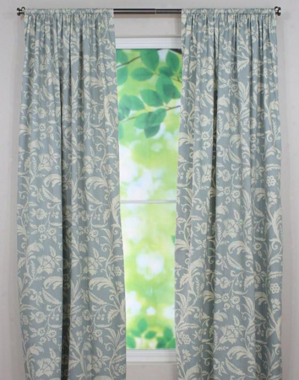 """fielding Collection Curtain Panels - Tab Top Lined Panel, 54x96""""x, Dillion Pearl"""