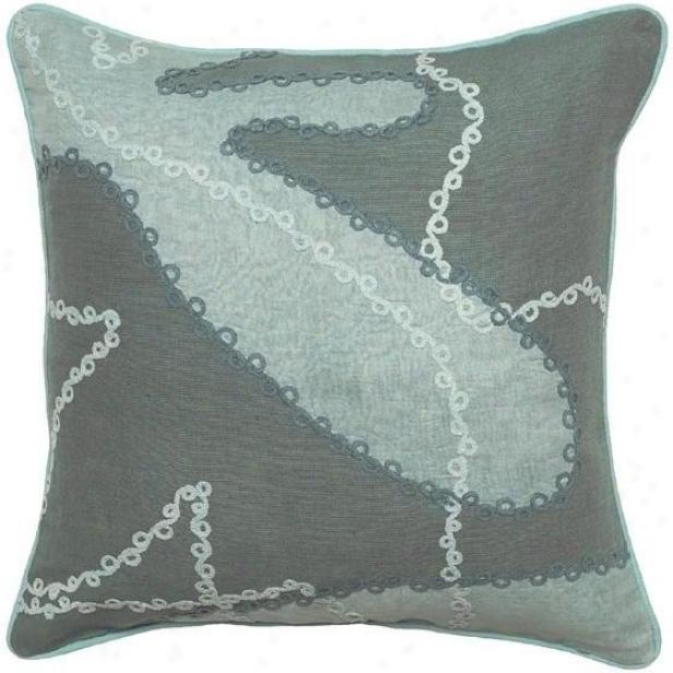 """fiesta Pillows - Set Of 2 - 18""""x18"""", Seafoam/aqua"""