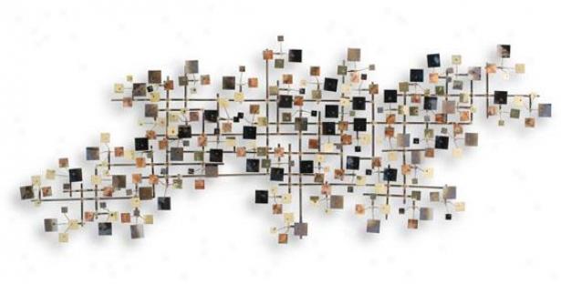 Firmament Wall Sculpture - 51hx20wx4d, Multi