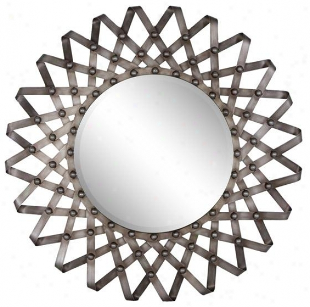 """fissare Wall Pattern - 33""""round X 2"""", Silver"""