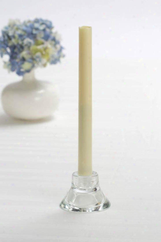 Flameless Tapers With Timer - Set Of 2 - 2-padk, Ivory