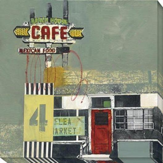 """flea Market Canvas Wall Art - 40""""hx40""""w, Green"""