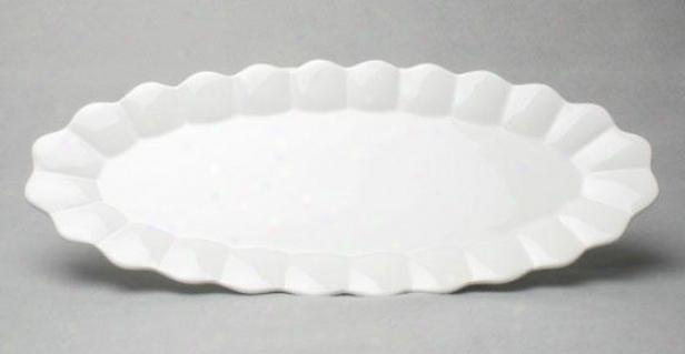 """fpea Price Fissh Platter - 23""""wx10""""dx2""""h, White"""