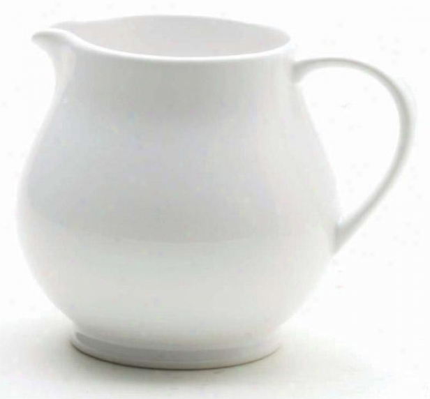 """flea Market Small Footed Pitcher - 4""""d X 5""""h, White"""