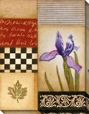 Fleur De Lis I Canvas Walp Art - I, Ivory