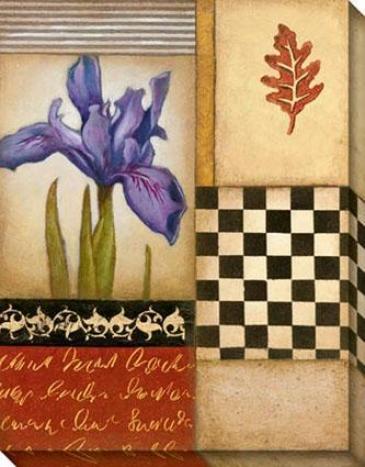 Fleur De Lis Ii Canvas Wall Art - Ii, Ivory