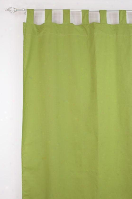 """flight Collection Curtain Panels - Tab Top Lined Panel, 54x84""""x, Pebbletex Palmx"""