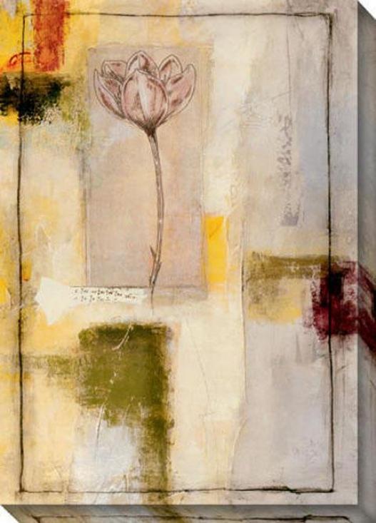 Flora Ii Canvas Wall Art - Ii, Ivory