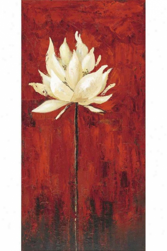 """""""floral I Canvas Wall Art - 47""""""""h X 23"""""""", Red"""""""