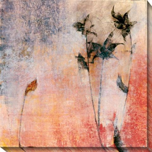 Floral Impression I Canvas Wall Art - I, Orange