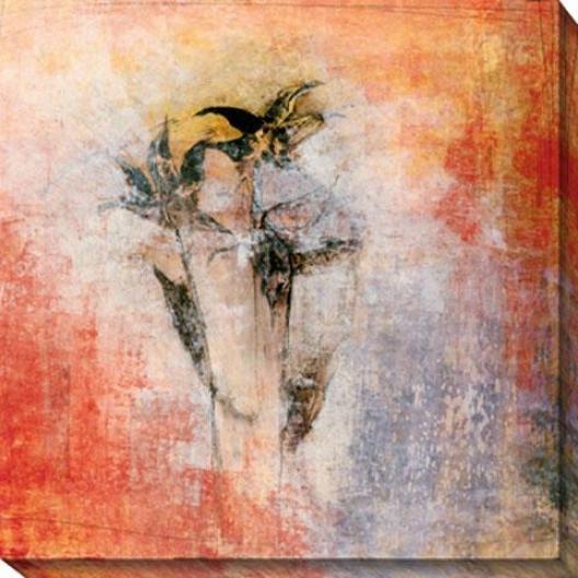 Floral Impression Ii Canvas Wall Art - Ii, Orange