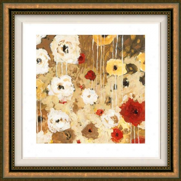 Flower Dance I Framed Wall Art - I, Floated Gold