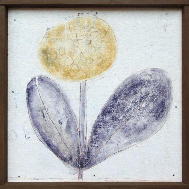 Flower Little Wall Art - 8.25hx8.25w, Multi