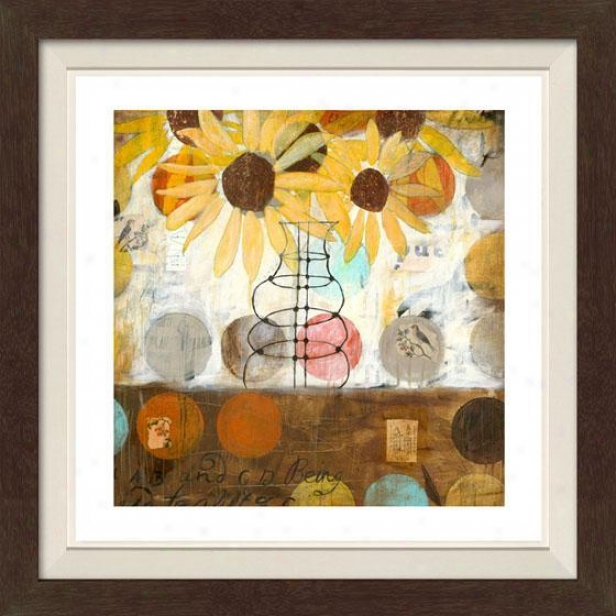 Flowers And Circles Setting I Framed Wall Art - I, Fltd Espresso