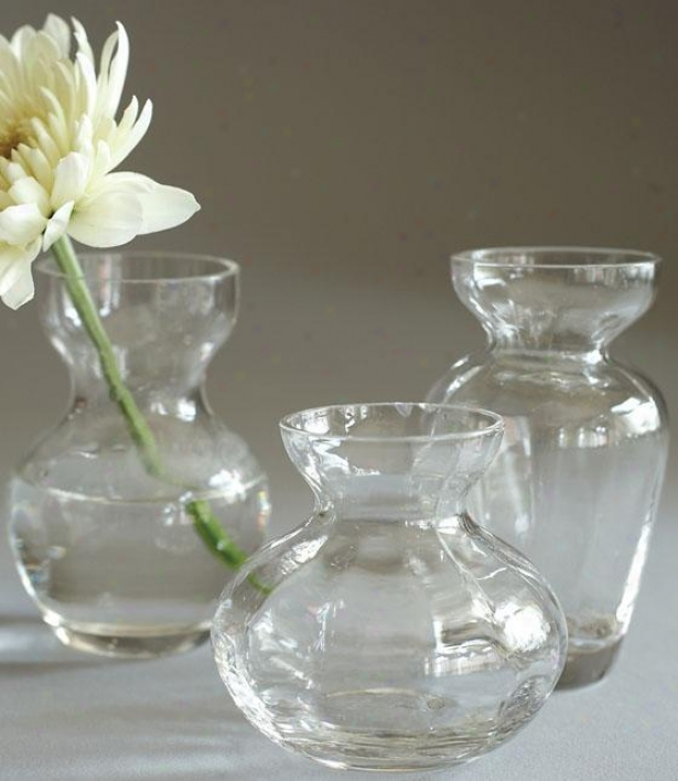 Fluted Trio Bud Vases - Set Of 3