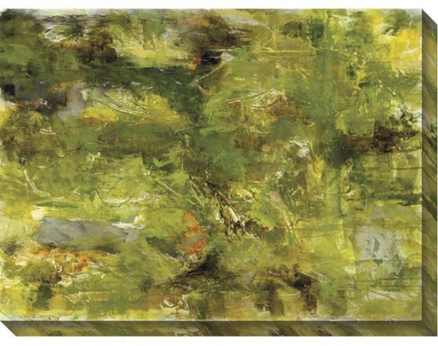 """""""forest Abstract Wall Creation of beauty - 48""""""""x36"""""""", Green"""""""