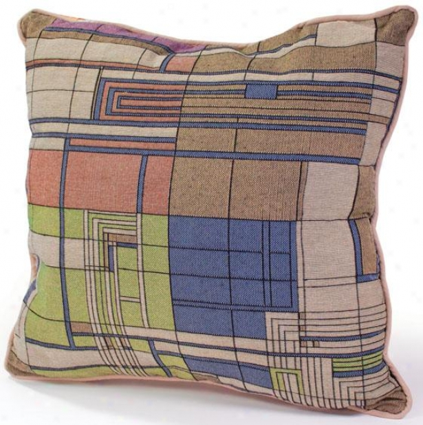 Frank Lloyd Wright  Taliesin Hillside Decorative Pillow - 5hx18wx4d, Multi