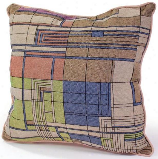 Frank Lloyd Wright  Taliesin Hillside Decorative Pillow - 5hx18wx4d, Multi