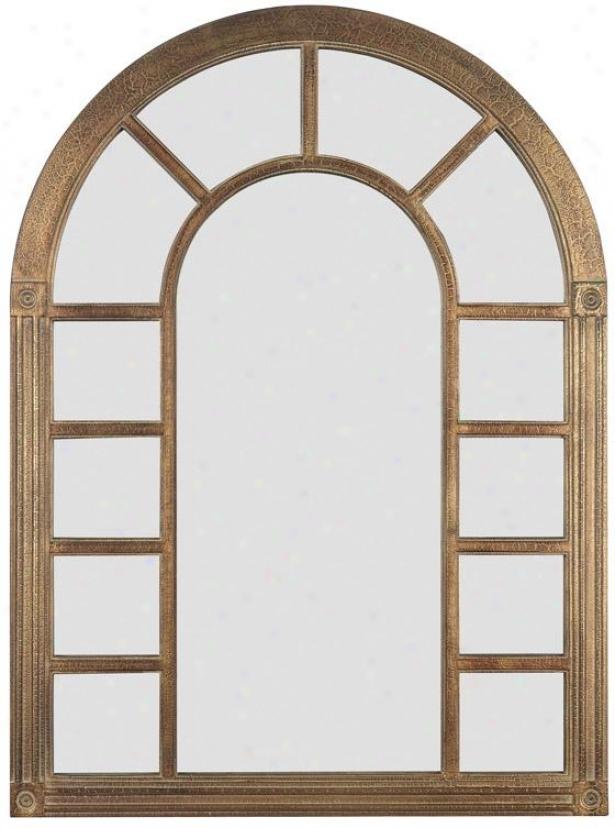 """fredrickson Arch Wall Mirror - 38h X 28""""w, Bronze"""