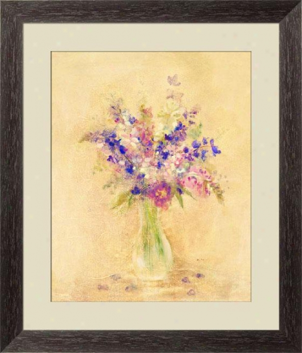 Fresh Bouquet I Framed Wall Art - I, Esprso Cube Frm