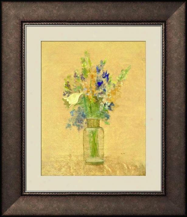 Fresh Bouquet Ii Framed Wall Art - Ii, Trdnl Brl Wd Fm